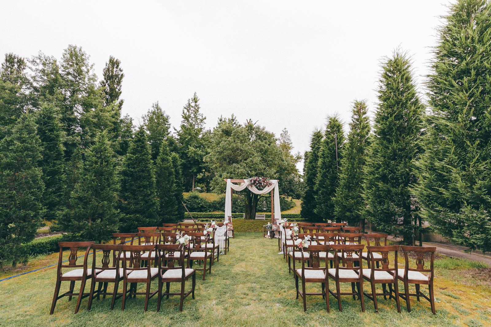 感受被群山和森林環繞的婚禮